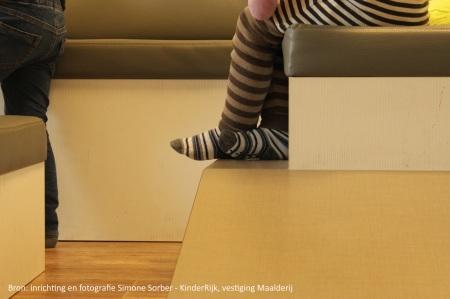 Detail van loungebank Maalderij, inrichting Simone Sorber